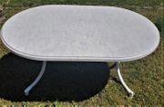 Gartentisch 145x95 cm wetterfest oval