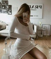 Kleid Blogger Vintage weiß