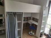 Hochbett Schreibtisch Schrank 3in1 Parisot