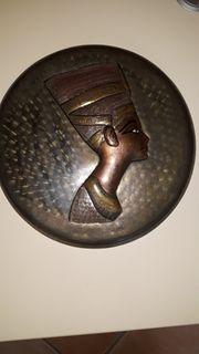 Bild aus Metall Kupfer