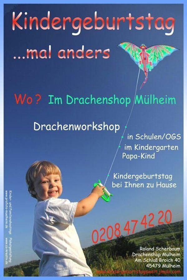 Kindergeburtstag mal anders Drachenworkshop Event
