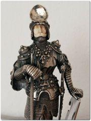 RAR Antik Silber Ritter Figur