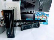 Nintendo Wii Konsole Schwarz komplett
