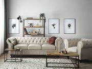 Sofa Set Polsterbezug beige 4-Sitzer