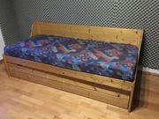 Massivholz-Bett 200x90 cm ausziehbar als