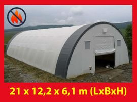 Reithalle Rundbogenhalle 9,15mX10m/12/20/26m PVC 720gr