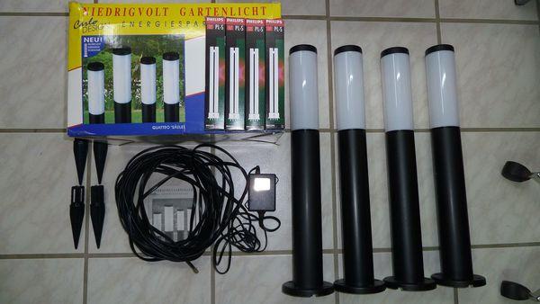 4 schöne Gartenlampen Säulenlampen mit