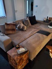 Wohnlandschaft Couch Sofa elektrisch verstellbar