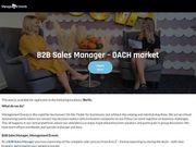 B2B Sales Manager - DACH market