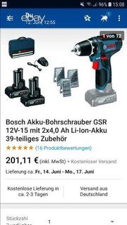 Bosch blau Akkuschrauber wie neu