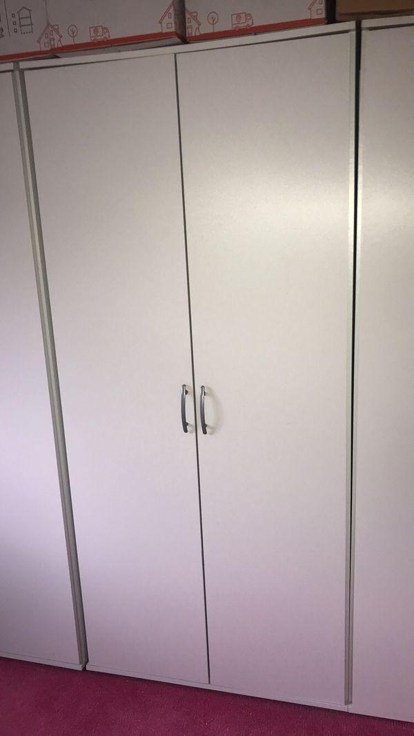 3 Kleiderschränke weiß 187x84x50