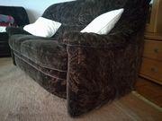 Sofa braun-schwarz 2 -und 3