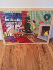 Holzpuzzle Weihnachten