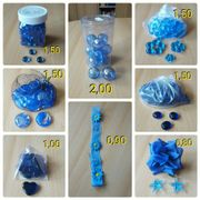 Dekoblumen Glasteine Kugeln Regentropfen blau