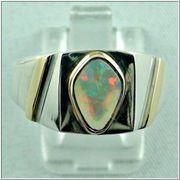 Sterling Silberring Goldring Unisex Ring