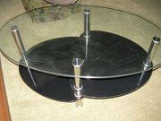 Glastisch oval