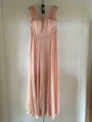 Abiballkleid-Ballkleid-Abendkleid apricot Perlenbestickung