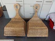 2 Geflochtene Stühle