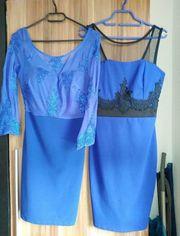 2 Abendkleider royal-blau Gr 36