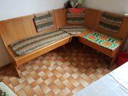 Retro Essecke Eckbank Holz und