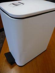 Badzubehör Toilettenbürste Silikon Treteimer weiß