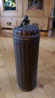 Antike Kupferwärmflasche