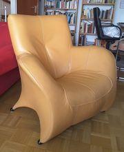 Sessel aus Echtleder Design-Sessel Ledersessel