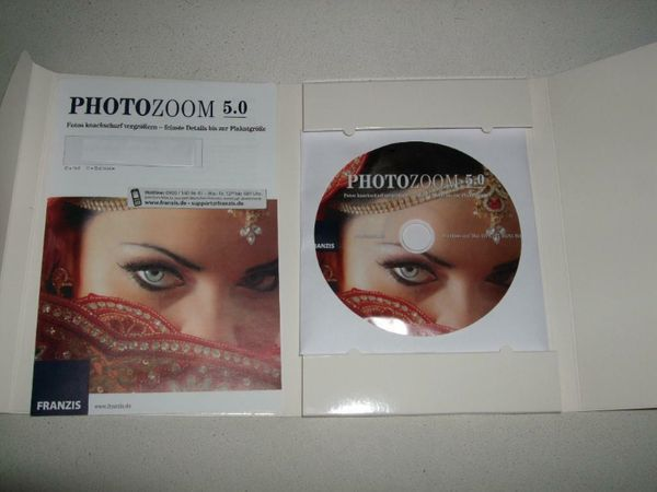 Photozoom - 5 Fotovergrößerungs-Software CD-ROM