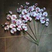 Kunstblumen Orchidee weiss lila rot