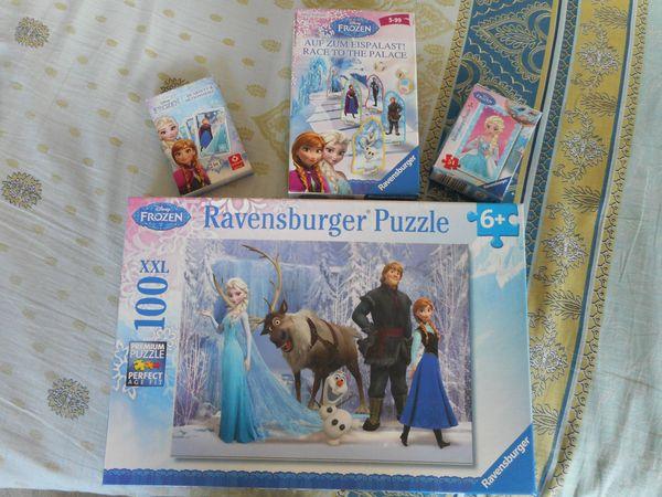 Frozen Puzzle- und Spieleset