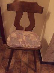 4 Esszimmerstühle Eiche rustikal