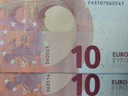 2 x 10 - Euro Banknoten -