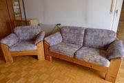 Dänische 2-er Couch mit Sessel