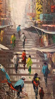 Gemälde Tang Ping China Town