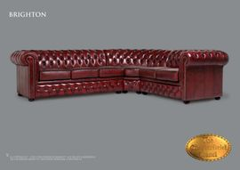 Polster, Sessel, Couch - Chesterfield Ecksofa