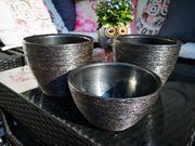 Blumentopf 3-er-Set Silber keramik 17