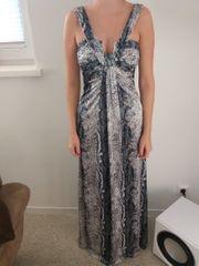 Ballkleid Abendkleid mit Schlangenprint