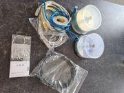 Set Elektro-Kabel Kopfhörer CD-Rom DVD