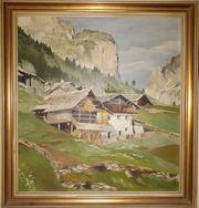 Gemälde Öl auf Faserplatte