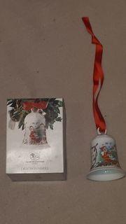 10 Stück Hutschenreuther Weihnachtsglocken 1988