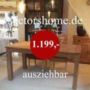 Ausziehbarer Esstisch Hartholztisch Küchentisch 160-260