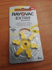 Hörgerätebatterien Rayovac Extra Advanced Typ