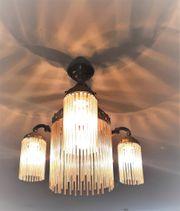 Lampen Antike elektrisches Böhmische-Glasröhrchen-Decken-und Wandlampen-Set