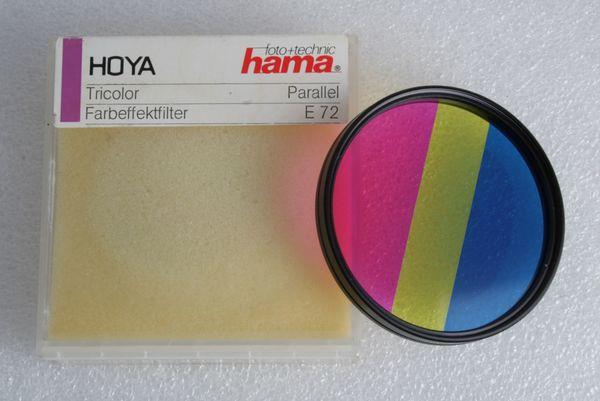 Hoya hama Farbeffektfilter Tricolor Parallel mit 72mm Einschraubgewinde