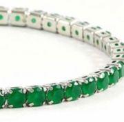 Armband Damen Smaragde 18k weissvergoldet
