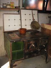 Antiken Küchenherd funktionsfähig gefliest mit