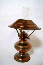 kleine Kupfer Petroleumlampe Öllampe Tischlampe