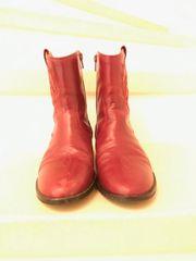 coole rote Mädchen Cowboystiefel wie