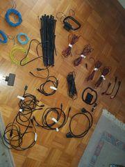 Audio und Hifi Kabel Konvolut