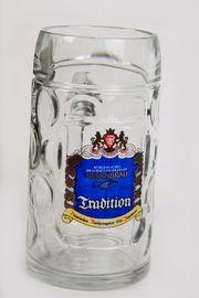Herrnbräu Ingolst Bierkrug Glaskrug Bierseidel
